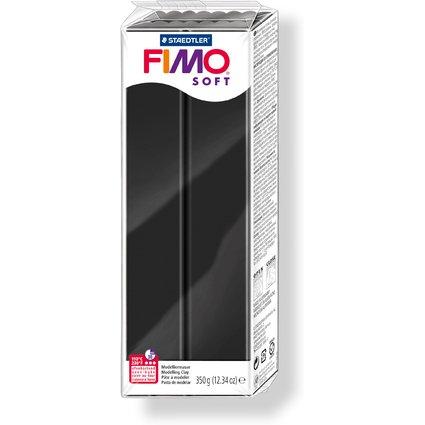 FIMO SOFT Modelliermasse, ofenhärtend, schwarz, 350 g