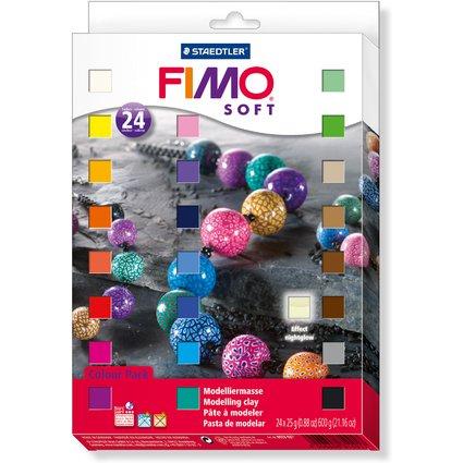 FIMO SOFT Modelliermasse-Set, 24er Set