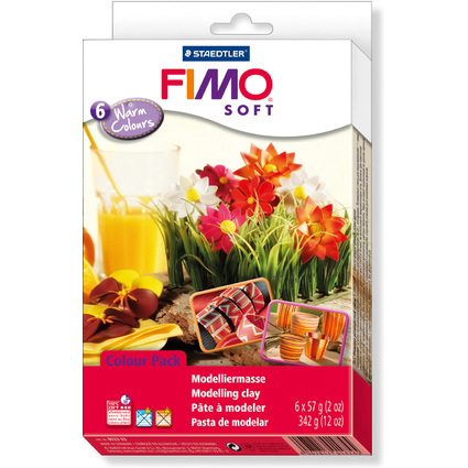 "FIMO SOFT Modelliermasse-Set Colour Kit ""Warm Colours"""