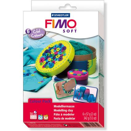 """FIMO SOFT Modelliermasse-Set Colour Kit """"Cool Colours"""""""