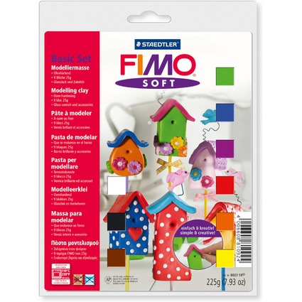 FIMO SOFT Modelliermasse Basic-Set, ofenhärtend