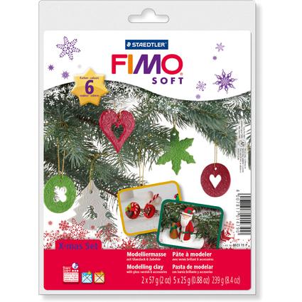 FIMO SOFT Modelliermasse Christmas-Set, ofenhärtend