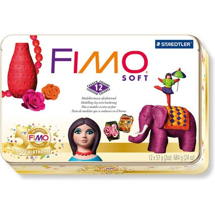 "FIMO SOFT Modelliermasse-Set ""Nostalgie"" in Metallbox"