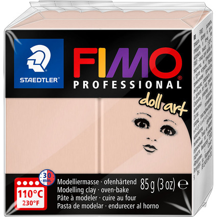 FIMO PROFESSIONAL Modelliermasse doll art, rosé, 85 g