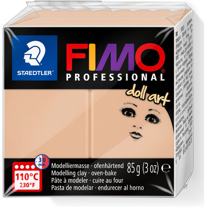 FIMO PROFESSIONAL Modelliermasse doll art, sand, 85 g