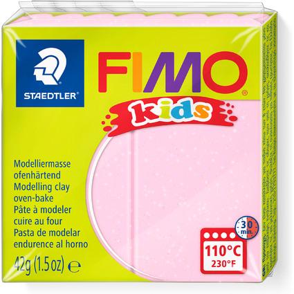 FIMO kids Modelliermasse, ofenhärtend, pearl-rosa, 42 g