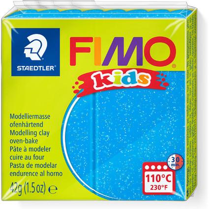 FIMO kids Modelliermasse, ofenhärtend, glitter-blau, 42 g
