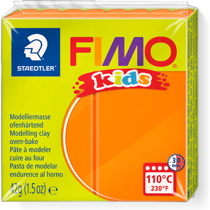 FIMO kids Modelliermasse, ofenhärtend, orange, 42 g