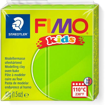 FIMO kids Modelliermasse, ofenhärtend, hellgrün, 42 g