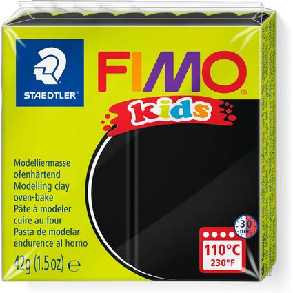 FIMO kids Modelliermasse, ofenhärtend, schwarz, 42 g