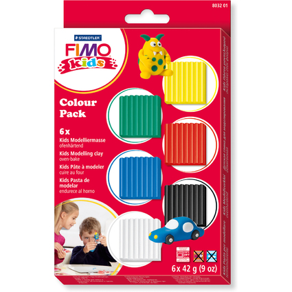 "FIMO kids Modelliermasse-Set Colour Pack ""basic"", 6er Set"