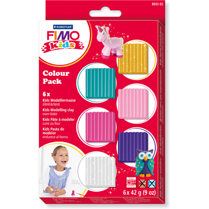 "FIMO kids Modelliermasse-Set Colour Pack ""girlie"", 6er Set"