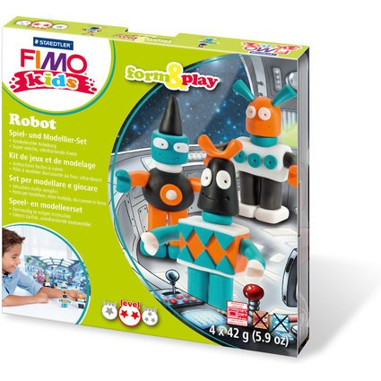 "FIMO kids Modellier-Set Form & Play ""Robot"", Level 2"
