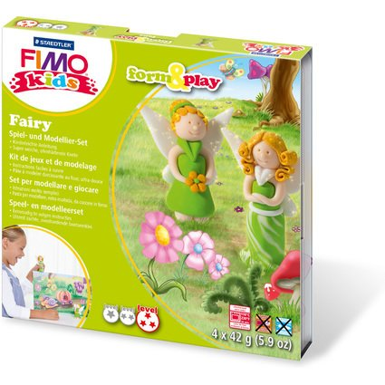 "FIMO kids Modellier-Set Form & Play ""Fairy"", Level 3"