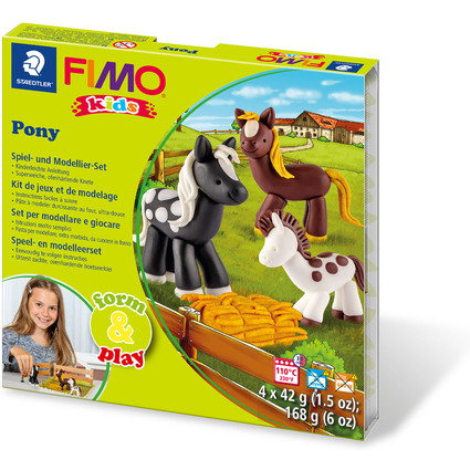 "FIMO kids Modellier-Set Form & Play ""Pony"", Level 2"