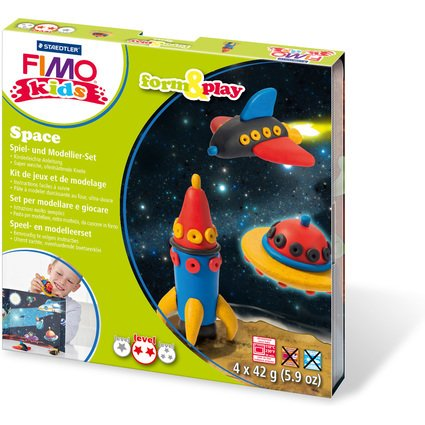 "FIMO kids Modellier-Set Form & Play ""Space"", Level 2"
