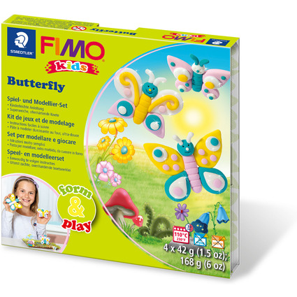 "FIMO kids Modellier-Set Form & Play ""Butterfly"", Level 1"