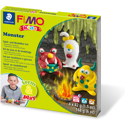 "FIMO kids Modellier-Set Form & Play ""Monster"", Level 1"