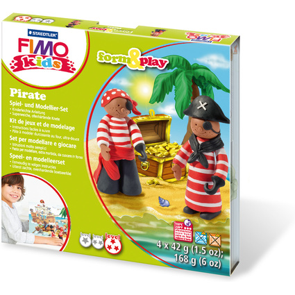 "FIMO kids Modellier-Set Form & Play ""Pirate"", Level 3"
