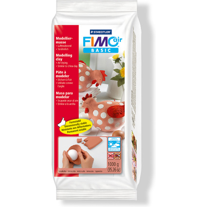 FIMO air BASIC Modelliermasse, lufthärtend, terrakotta