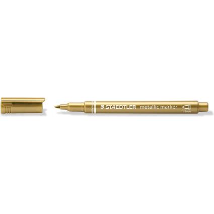 STAEDTLER Permanent-Marker Metallic, Rundspitze, gold