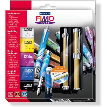 FIMO Schreibgeräte-Modellier-Set, Füllhalter/Kugelschreiber