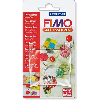 FIMO Ring, mit runder Wanne, auf Blisterkarte