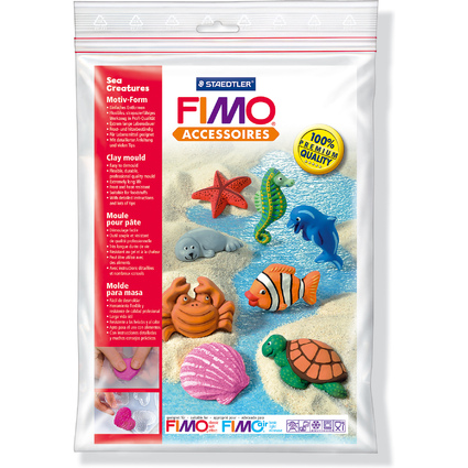 "FIMO Motiv-Form ""Meerestiere"", 8 Motive"