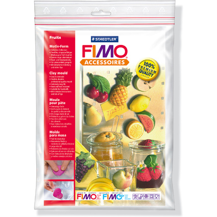 "FIMO Motiv-Form ""Obst"", 14 Motive"