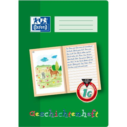 Oxford Geschichtenheft, DIN A4, Lineatur: 1 G / 1. Schuljahr