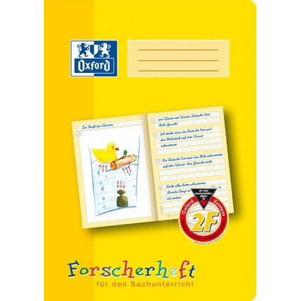 """Oxford Schreiblernheft """"Forscherheft"""", Lineatur: 2F, DIN A4"""
