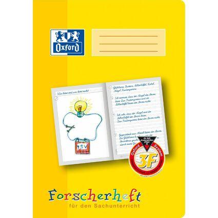 """Oxford Schreiblernheft """"Forscherheft"""", Lineatur: 3F, DIN A4"""
