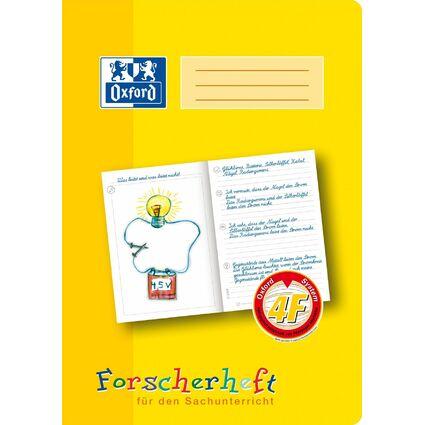 """Oxford Schreiblernheft """"Forscherheft"""", Lineatur: 4F, DIN A4"""