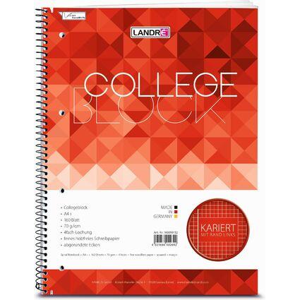 """LANDRÉ Collegeblock """"college"""" DIN A4, kariert, 160 Blatt"""