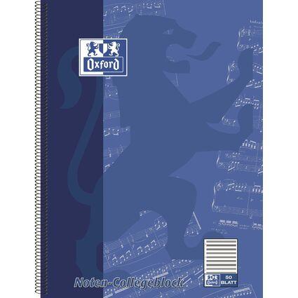 Oxford Noten-Collegeblock, DIN A4, 50 Blatt, Lineatur 14