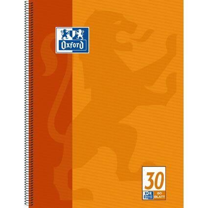 Oxford Collegeblock, DIN A4+, blanko, 80 Blatt, orange