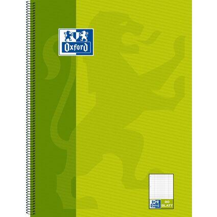 "Oxford Collegeblock ""KarLi"", DIN A4+, grün, 80 Blatt"