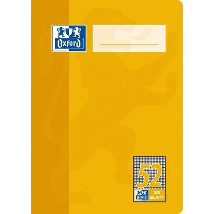 Oxford Oktavheft DIN A6, kariert, 90 g/qm, 32 Blatt