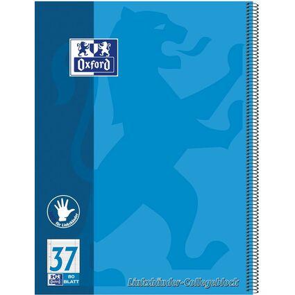 Oxford Linkshänder-Collegeblock, DIN A4+, liniert, 80 Blatt