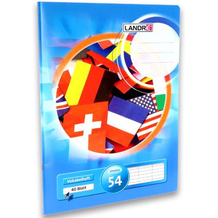 LANDRÉ Vokabelheft DIN A4, 3-spaltig, 80 g/qm, 40 Blatt