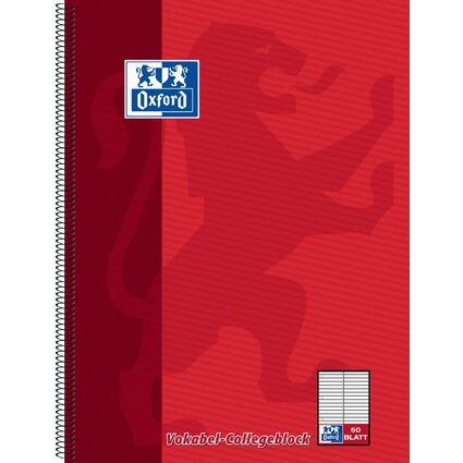 Oxford Vokabel-Collegeblock, DIN A4, 50 Blatt, 2 Spalten