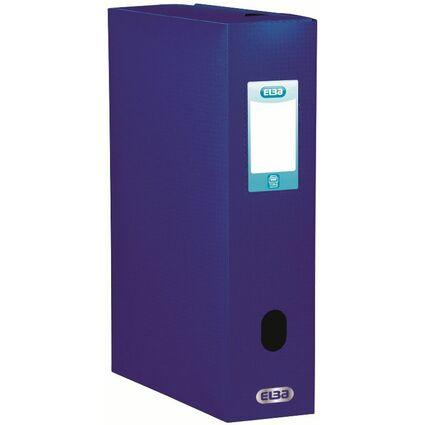 ELBA Sammelbox Memphis, Füllhöhe: 80 mm, DIN A4, blau