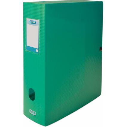 ELBA Sammelbox Memphis, Füllhöhe: 80 mm, DIN A4, grün