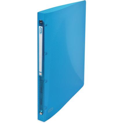 ELBA Ringbuch hawai, DIN A4, blau-transluzent, 4-Ring, PP