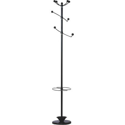 """UNiLUX Garderobenständer """"TWISTER"""", Höhe: 1.800 mm, schwarz"""