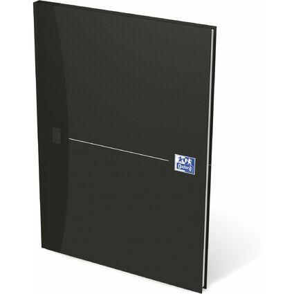 """Oxford Notizbuch """"Smart Black"""" - gebunden, DIN A4, blanko"""