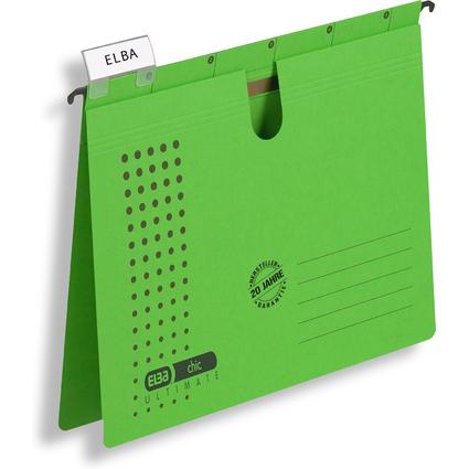 ELBA Hängehefter chic ULTIMATE, kfm. Heftung, A4, grün, 5er