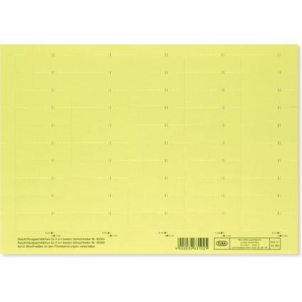 ELBA Beschriftungsschild für Sichtreiter, 4-zeilig, gelb