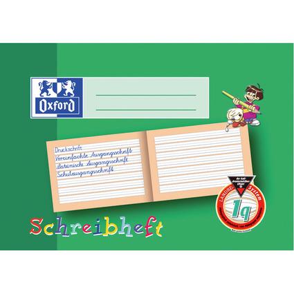 Oxford Schreibheft, DIN A5 quer, Lineatur: 1q
