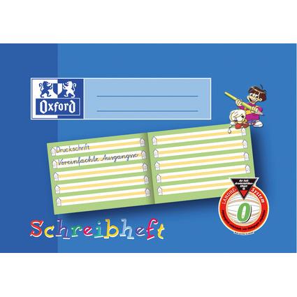 Oxford Schreiblernheft, DIN A5 quer, Lineatur: 0 / Bayern